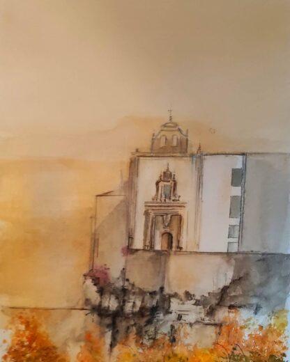 Acuarela original Parador de Cuenca