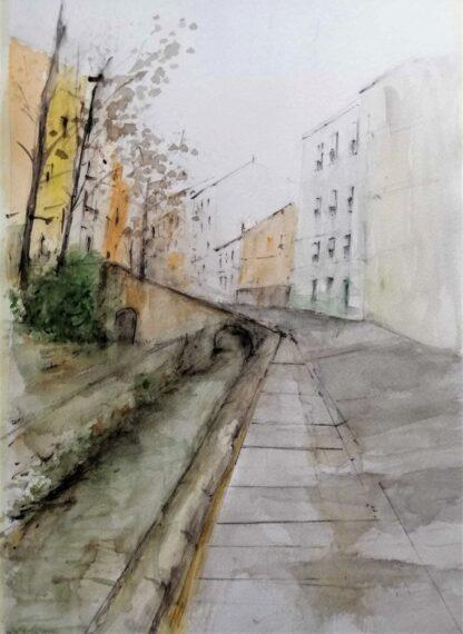 Acuarela Original Calle de los Tintes