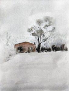 Paisaje con nieve